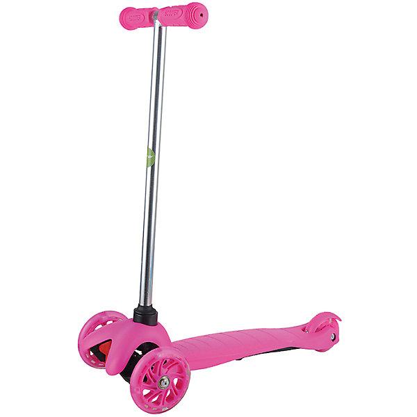 Самокат ZL-66, розовый, ZilmerСамокаты<br>Характеристики товара:<br><br>• возраст от 3 лет;<br>• материал: алюминий, пластик, сталь;<br>• в комплекте: самокат, шестигранные ключи, инструкция;<br>• максимальная нагрузка до 50 кг;<br>• материал колес: полиуретан;<br>• диаметр передних колес 11 см, заднего колеса 7,8 см;<br>• размер самоката 54х25х66 см;<br>• размер упаковки 56х14х19 см;<br>• вес упаковки 2,6 кг;<br>• страна производитель: Китай.<br><br>Самокат ZL-66 Zilmer розовый позволит активно провести время на прогулке. Катание на самокате развивает координацию движений, учит держать равновесие. 2 передних колеса придают хорошей устойчивости, позволяют легко учиться держать равновесие. Платформа самоката выполнена из прочного пластика и имеет рифленую поверхность, препятствующую соскальзывание во время езды. <br><br>Удобный руль обеспечивает комфортное управление. Прорезиненные накладки на ручках не дают ладошкам соскальзывать при движении. Колеса выполнены из износостойкого долговечного полиуретана. Главное преимущество модели — светящиеся колеса во время катания.<br><br>Самокат ZL-66 Zilmer розовый можно приобрести в нашем интернет-магазине.<br>Ширина мм: 560; Глубина мм: 140; Высота мм: 190; Вес г: 2600; Цвет: розовый; Возраст от месяцев: 36; Возраст до месяцев: 72; Пол: Унисекс; Возраст: Детский; SKU: 5610981;