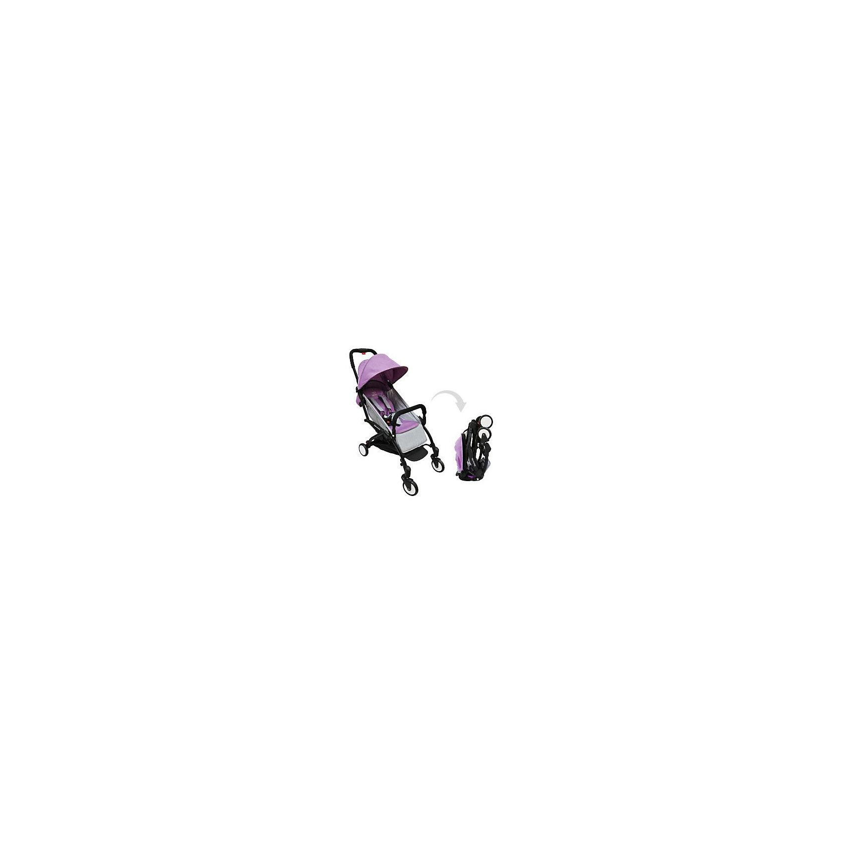 Прогулочная коляска Sweet Baby Mamma Mia Linen Canarie, фиолетовая