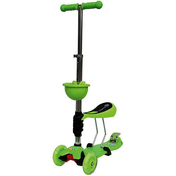 Самокат, зеленый, ScooterOK Tolocar