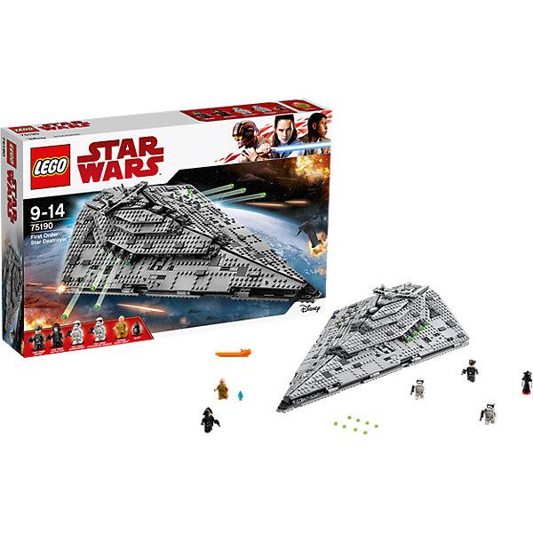 LEGO LEGO STAR WARS 75190: Звёздный разрушитель Первого Ордена конструктор lego star wars бой пехотинцев первого ордена против спидера на лыжах 75195