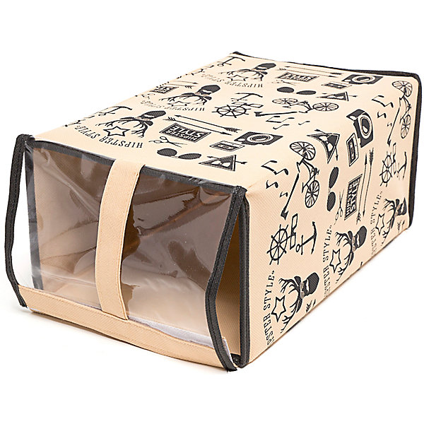 Обувная коробка Hipster Style (33*22*16), HomsuОрганайзеры для одежды<br>Характеристики товара:<br><br>• цвет: бежевый<br>• материал: спанбонд, картон, ПВХ<br>• размер: 33х22х16 см<br>• вес: 300 г<br>• прозрачная крышка<br>• ручка для переноски<br>• вместимость: 1 отделение<br>• страна бренда: Россия<br>• страна изготовитель: Китай<br><br>Обувная коробка Hipster Style от бренда Homsu (Хомсу) - очень удобная вещь для хранения вещей и эргономичной организации пространства.<br><br>Предмет легкий, устойчивый, вместительный, имеет удобную ручку для переноски.<br><br>Обувную коробку Hipster Style (33*22*16), Homsu можно купить в нашем интернет-магазине.<br>Ширина мм: 360; Глубина мм: 330; Высота мм: 20; Вес г: 300; Возраст от месяцев: 216; Возраст до месяцев: 1188; Пол: Унисекс; Возраст: Детский; SKU: 5620130;