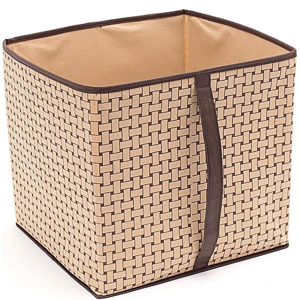 Короб большой для вещей Pletenka (30*33*32), HomsuОрганайзеры для одежды<br>Характеристики товара:<br><br>• цвет: бежевый<br>• материал: спанбонд, картон, ПВХ<br>• размер: 30х33х32 см<br>• вес: 400 г<br>• легкий прочный каркас<br>• ручка для переноски<br>• вместимость: 1 отделение<br>• страна бренда: Россия<br>• страна изготовитель: Китай<br><br>Короб большой для вещей Pletenka от бренда Homsu (Хомсу) - очень удобная вещь для хранения вещей и эргономичной организации пространства.<br><br>Он легкий, устойчивый, вместительный, имеет удобную ручку для переноски.<br><br>Короб большой для вещей Pletenka (30*33*32), Homsu можно купить в нашем интернет-магазине.<br>Ширина мм: 620; Глубина мм: 330; Высота мм: 20; Вес г: 400; Возраст от месяцев: 216; Возраст до месяцев: 1188; Пол: Унисекс; Возраст: Детский; SKU: 5620145;