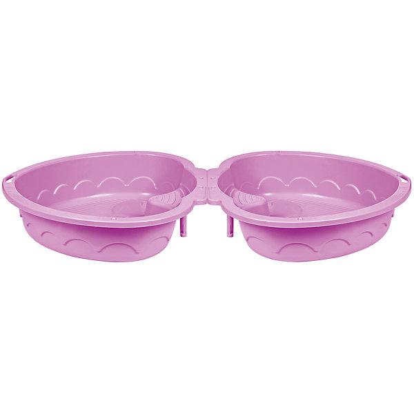 Двойная песочница-сердечко, PalPlay, розовая