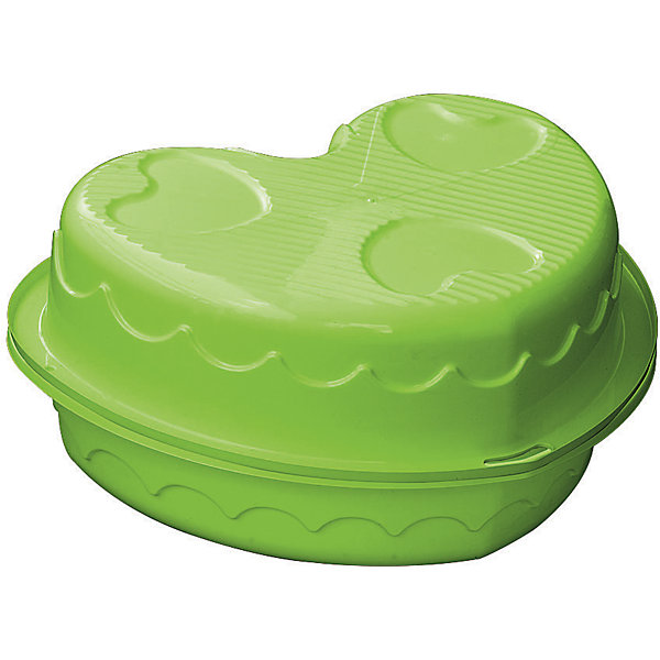 Двойная песочница-сердечко, PalPlay, зеленая