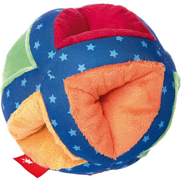 Sigikid Развивающая мягкая игрушка Sigikid PlayQ Разноцветный мяч, 12 см