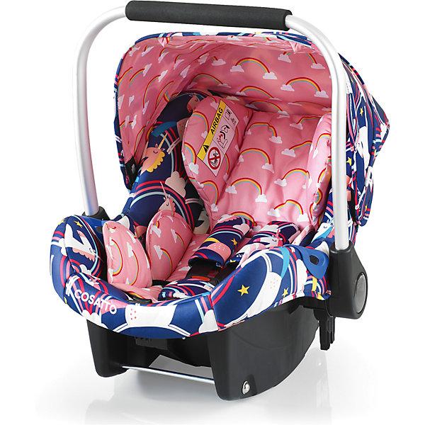 Автокресло Cosatto Port, 0-13 кг., Magic UnicornsГруппа 0+  (до 13 кг)<br>Характеристики:<br><br>• группа: 0+;<br>• вес ребенка: до 13 кг;<br>• возраст: от рождения до 18 месяцев;<br>• соответствует нормам безопасности  ECE R44/04;<br>• установка: против хода движения автомобиля;<br>• может крепиться штатным автомобильным ремнем или устанавливаться на одну из баз Cosatto (Isofix и для 3-точечного ремня);<br>• совместимо с шасси колясок Cosatto Ooba, Fly, Wish, Wow, Woop;<br>• можно использовать как переноску или люльку;<br>• 3-точечные внутренние ремни имеют 2 положения;<br>• плечевые и нагрудные подушечки;<br>• анатомический вкладыш;<br>• специальная подушка для головы;<br>• усиленная боковая защита;<br>• ударопрочный пластик;<br>• солнцезащитный съемный козырек из ткани;<br>• ручка для переноски;<br>• сзади расположен бардачок;<br>• гипоаллергенный материал обивки;<br>• съемный чехол можно стирать при температуре 30 градусов;<br>• материал: пластик, полиэстер.<br><br>Габариты автокресла: 70х60х44 см.<br>Вес автокресла: 3 кг.<br><br>Автокресло разработано для безопасной перевозки малышей в салоне автомобиля. Представленную модель можно использовать не только как авто-люльку, а и устанавливать на шасси коляски, что очень удобно на прогулке за городом. Продуманная до мелочей система безопасности максимально защищает малыша во время движения. Автокресло устанавливается на сиденье и крепится при помощи штатного ремня безопасности автомобиля либо устанавливается на специальную базу (приобретается отдельно). <br><br>Автокресло Port 0-13 кг., Cosatto, Magic Unicorns можно купить в нашем интернет-магазине.<br>Ширина мм: 750; Глубина мм: 450; Высота мм: 390; Вес г: 6000; Возраст от месяцев: -2147483648; Возраст до месяцев: 2147483647; Пол: Женский; Возраст: Детский; SKU: 5629497;