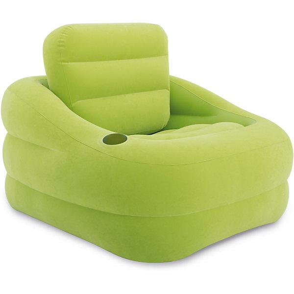 Надувное кресло Акцент 97х107х71см, Intex, зеленыйМебель<br>Характеристики товара:<br><br>• материал: поливинилхлорид, 100%<br>• размеры места (ВхШхД): 97х71х107 см <br>• максимальная нагрузка: до 100 кг<br>• повышенная прочность материала<br>• велюровая поверхность<br>• вес в упаковке: 3 кг 573 г<br>• размеры в упаковке (Д*Ш*В): 40,5*36*13,5 см<br>• особенности ухода: влажная и сухая чистка<br><br>Надувное кресло выполнено из безопасного и прочного поливинилхлорида, поверхность – из материала, подобного велюру. Кресло имеет эргономичную форму, за счет чего обеспечивается повышенные комфортные условия. <br><br>Надувное кресло Акцент 97х107х71см, Intex, зеленый идеально подходит для детской комнаты или дачи: его легкий вес и компактный размер в упаковке позволяют брать собой в поездки. Надувное кресло Акцент 97х107х71см, Intex, зеленый станет вашим незаменимым спутником дома, на природе, даче или даже на пляже! <br><br>Надувное кресло Акцент 97х107х71см, Intex, зеленый можно купить в нашем интернет-магазине.<br>Ширина мм: 405; Глубина мм: 360; Высота мм: 135; Вес г: 3573; Возраст от месяцев: 36; Возраст до месяцев: 1188; Пол: Унисекс; Возраст: Детский; SKU: 5630561;