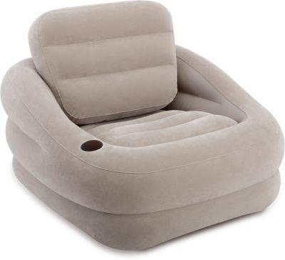 Надувное кресло Акцент 97х107х71см, Intex, серый, артикул:5630562 - Надувная мебель