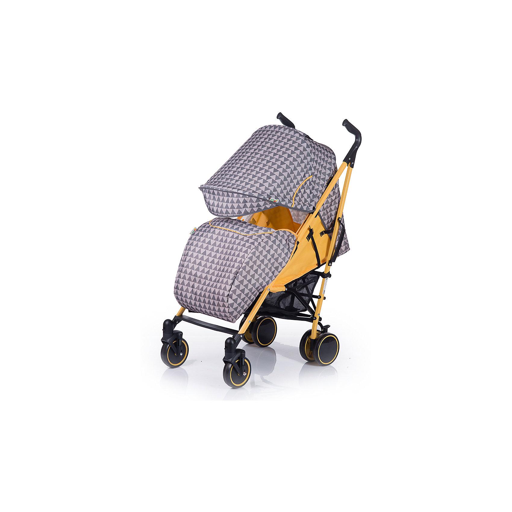 Baby Hit Коляска-трость BabyHit Handy, серый/жёлтый