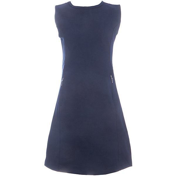 Платье для девочки LuminosoПлатья и сарафаны<br>Характеристики товара:<br><br>• цвет: синий;<br>• состав: 65% хлопок 30% полиэстер 5% эластан;<br>• сезон: демисезон;<br>• особенности: школьное, приталенное;<br>• застежка: молния;<br>• с коротким рукавом:<br>• декорировано молниями;<br>• страна бренда: Россия;<br>• страна производства: Китай.<br><br>Темно-синее трикотажное платье с коротким рукавом для девочки приталенного кроя с овальным вырезом. Школьное платье декорировано стильными молниями. Застежка-молния расположена на спинке изделия.<br><br>Платье для девочки Luminoso (Люминосо) можно купить в нашем интернет-магазине.<br>Ширина мм: 236; Глубина мм: 16; Высота мм: 184; Вес г: 177; Цвет: синий; Возраст от месяцев: 96; Возраст до месяцев: 108; Пол: Женский; Возраст: Детский; Размер: 134,122,164,158,152,146,140,128; SKU: 6672824;