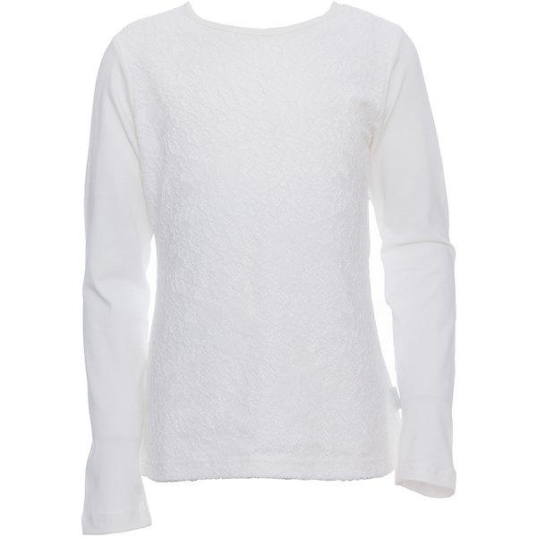 Футболка с длинным рукавом для девочки LuminosoБлузки и рубашки<br>Характеристики товара:<br><br>• цвет: молочный;<br>• состав: 95% хлопок, 5% эластан;<br>• сезон: демисезон;<br>• особенности: школьная, с кружевом;<br>• застежка: пуговка на спине;<br>• с длинным рукавом;<br>• спереди декорирована кружевом;<br>• страна бренда: Россия;<br>• страна производства: Китай.<br><br>Школьная блузка с длинным рукавом для девочки. Молочная трикотажная блузка застегивается на пуговку на спине. Блузка декорирована кружевом.<br><br>Блузка для девочки Luminoso (Люминосо) можно купить в нашем интернет-магазине.<br>Ширина мм: 186; Глубина мм: 87; Высота мм: 198; Вес г: 197; Цвет: белый; Возраст от месяцев: 156; Возраст до месяцев: 168; Пол: Женский; Возраст: Детский; Размер: 164,122,158,152,146,140,134,128; SKU: 6673004;