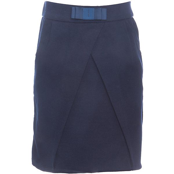 Юбка для девочки LuminosoЮбки<br>Характеристики товара:<br><br>• цвет: темно-синий;<br>• состав: 65% хлопок, 30% полиэстер, 5% эластан;<br>• сезон: демисезон;<br>• особенности: школьная, на резинке;<br>• юбка тюльпан;<br>• пояс на эластичной резинке;<br>• декорирована складкой;<br>• декоративный бантик на поясе;<br>• два боковых кармана;<br>• страна бренда: Россия;<br>• страна производства: Китай.<br><br>Школьная юбка для девочки. Темно-синяя юбка на резинке. Трикотажная юбка-тюльпан декорирована оригинальной складкой спереди и бантиком на поясе. Мягкий, эластичный пояс на резинке, два кармана по бокам.<br><br>Юбка для девочки Luminoso (Люминосо) можно купить в нашем интернет-магазине.<br>Ширина мм: 207; Глубина мм: 10; Высота мм: 189; Вес г: 183; Цвет: синий; Возраст от месяцев: 72; Возраст до месяцев: 84; Пол: Женский; Возраст: Детский; Размер: 122,164,158,152,146,140,134,128; SKU: 6673148;