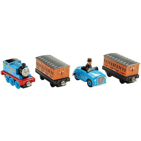 Купить Набор из 3-х паровозиков с вагончиком, Томас и его друзья, Mattel, Таиланд, Мужской