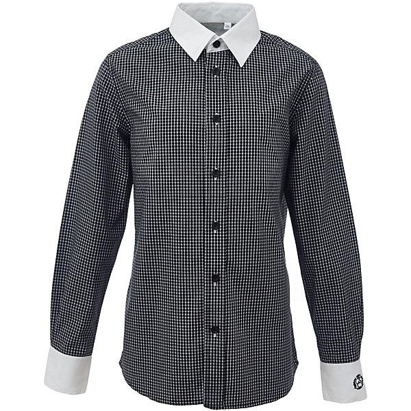 Рубашка для мальчика GulliverБлузки и рубашки<br>Характеристики товара:<br><br>• цвет: черный<br>• состав: 100% хлопок<br>• сезон: круглый год<br>• с длинным рукавом<br>• воротник-стойка<br>• застежки: пуговицы<br>• манжеты на трех пуговицах<br>• особенности: школьная, повседневная, в клетку<br>• страна бренда: Российская Федерация<br>• страна производства: Российская Федерация<br><br>Школьная рубашка с длинным рукавом для мальчика. Черная рубашка в клетку застегивается на пуговицы, манжеты рукавов на трех пуговицах. Воротник и манжеты контрастного белого цвета.<br><br>Рубашку для мальчика Gulliver (Гулливер) можно купить в нашем интернет-магазине.<br>Ширина мм: 174; Глубина мм: 10; Высота мм: 169; Вес г: 157; Цвет: черный; Возраст от месяцев: 72; Возраст до месяцев: 84; Пол: Мужской; Возраст: Детский; Размер: 164,170,158,152,146,140,134,128,122; SKU: 6678396;