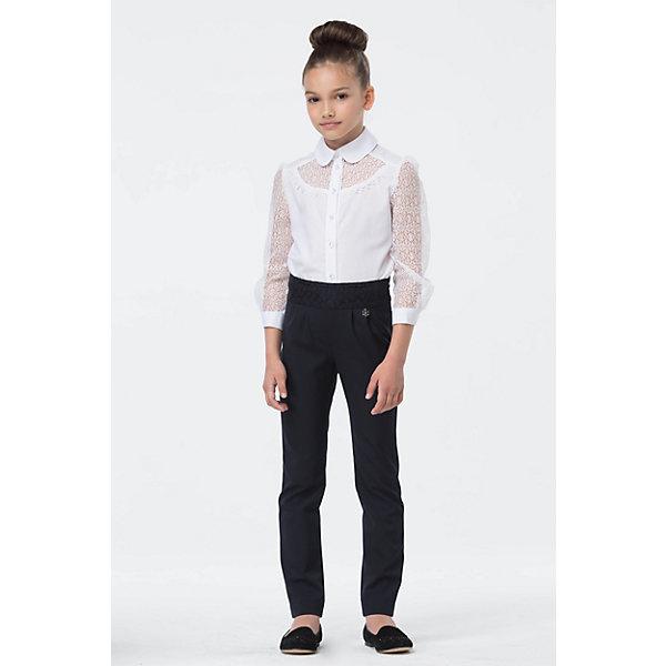 Блузка для девочки СменаБлузки и рубашки<br>Характеристики товара:<br><br>• цвет: белый<br>• состав: 60% хлопок, 40% полиэстер<br>• сезон: демисезон<br>• застежка: пуговицы<br>• особенности: школьная, нарядная<br>• приятная на ощупь ткань<br>• длинные рукава<br>• страна бренда: Российская Федерация<br>• страна производства: Российская Федерация<br><br>Школьная блузка с длинным рукавом для девочки. Белая блузка застегивается на пуговицы. Нарядная блузка с ажурными рукавами и ажурной грудкой сверху.<br><br>Блузку для девочки Смена можно купить в нашем интернет-магазине.<br>Ширина мм: 186; Глубина мм: 87; Высота мм: 198; Вес г: 197; Цвет: белый; Возраст от месяцев: 132; Возраст до месяцев: 144; Пол: Женский; Возраст: Детский; Размер: 152,158,164,146,140,134,128,122; SKU: 6683910;