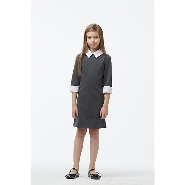 Смена Платье для девочки Смена смена смена пальто серое в полоску
