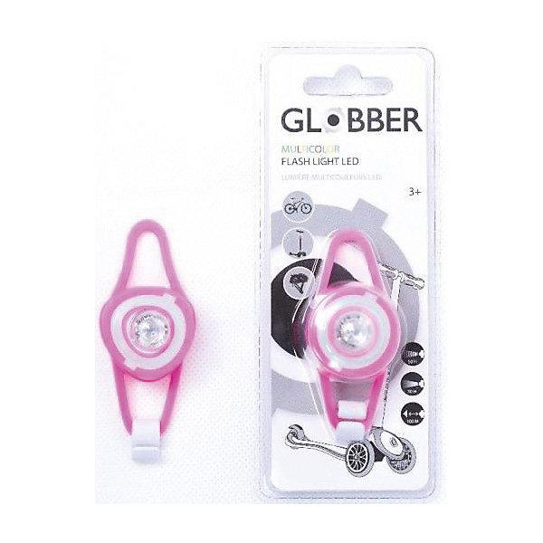 Габаритный фонарь Globber, розовыйВелосипеды и аксессуары<br>Характеристики:<br><br>• возраст: от 3 лет;<br>• материал: силикон;<br>• цвет: розовый;<br>• легкий и компактный фонарь;<br>• съемная силиконовая подсветка;<br>• используется яркий белый свет (LDE);<br>• 2 режима освещения;<br>• работает от батареек (входят в комплект);<br>• тип батареек: 2 литиевые батареи CR-2032;<br>• в комплект входит крепление;<br>• вес упаковки: 40 гр.;<br>• размеры упаковки: 17х0,6х0,4 см.<br><br>Габаритный фонарь Globber (Глоббер) подойдет для любой модели самоката Globber (Глоббер), благодаря яркой белой светодиодной подсветке и двум режимам освещения, улучшится видимость дороги.<br><br>В комплект входит удобное крепление. Регулируемые силиконовые светодиоды обеспечивают видимость и безопасность в любое время суток, благодаря своей белой LED-подсветке, которая работает либо как фара, либо как проблесковый световой сигнал. Нужно нажать на светодиод для включения фонаря (одно нажатие), проблескового света (два нажатия), и чтобы выключить его (три нажатия).<br><br>Габаритный фонарь Globber (Глоббер) можно купить в нашем интернет-магазине.<br>Ширина мм: 173; Глубина мм: 65; Высота мм: 43; Вес г: 34; Цвет: розовый; Возраст от месяцев: 36; Возраст до месяцев: 1200; Пол: Женский; Возраст: Детский; SKU: 6711151;