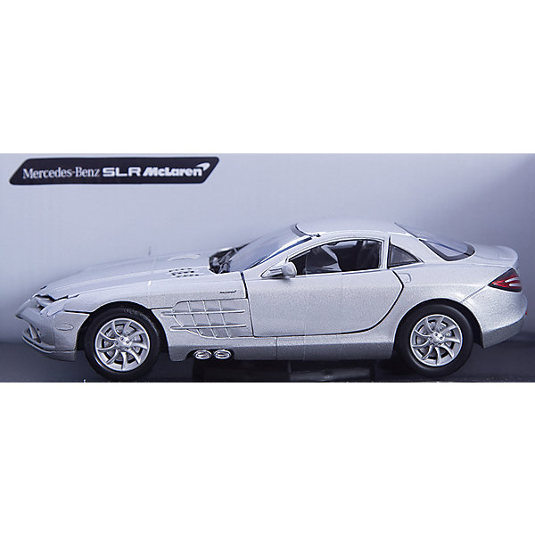 Autotime Машина MERCEDES-BENZ SLR MCLAREN, 1:24, серая minichamps 1 18 2007 mercedes mclaren slr roadster alloy model car