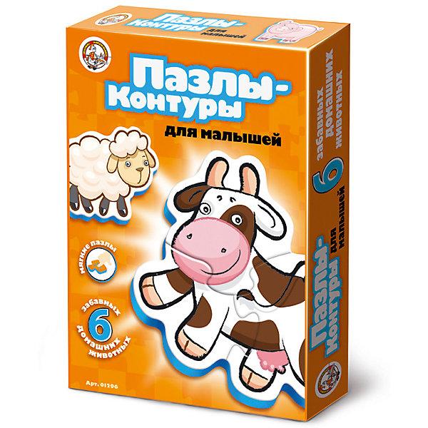 Пазлы-контуры Домашние животные, Десятое королевствоПазлы для малышей<br>Характеристики:<br><br>• возраст: от 2 лет<br>• количество деталей: 16<br>• материалы: вспененный полимер, картон<br>• упаковка: картонная коробка<br>• размер упаковки: 27,5х20х4 см.<br>• вес: 138 гр.<br><br>Пазлы-контуры, выполненные из экологически чистых материалов, разработаны для самых маленьких. Из крупных мягких деталей пазла ребенок соберет 6 фигурок животных: цыпленка и свинью из двух частей, щенка, корову, кота и овечку из трех. <br><br>Элементы пазла плотно и надежно фиксируются между собой, что позволит малышу играть готовыми фигурками. Собирая пазл, ребенок научится сопоставлять часть и целое, концентрировать внимание и доводить начатое дело до конца.<br><br>Пазлы-контуры Домашние животные, Десятое королевство можно купить в нашем интернет-магазине.<br>Ширина мм: 280; Глубина мм: 195; Высота мм: 20; Вес г: 158; Возраст от месяцев: 24; Возраст до месяцев: 2147483647; Пол: Унисекс; Возраст: Детский; SKU: 6723906;