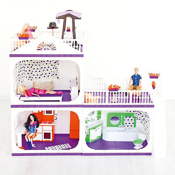 Огонек Коттедж для кукол Огонёк Конфетти, без мебели дом для кукол огонек коллекция без мебели