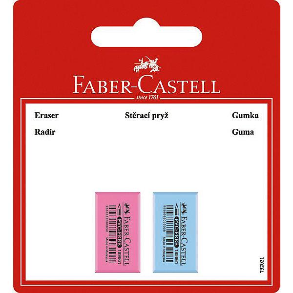 Faber-Castell Флуоресцентный ластик Faber-Castell, 2 шт акварель faber castell watercolours 2 кисточки диаметр 30 мм 21 цвет 125021