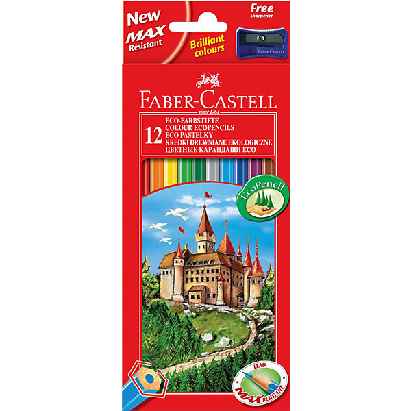 Faber-Castell Карандаши цветные Faber-Castell, 12 цветов faber castell цветные карандаши faber castell jumbo grip metallic 5 цветов