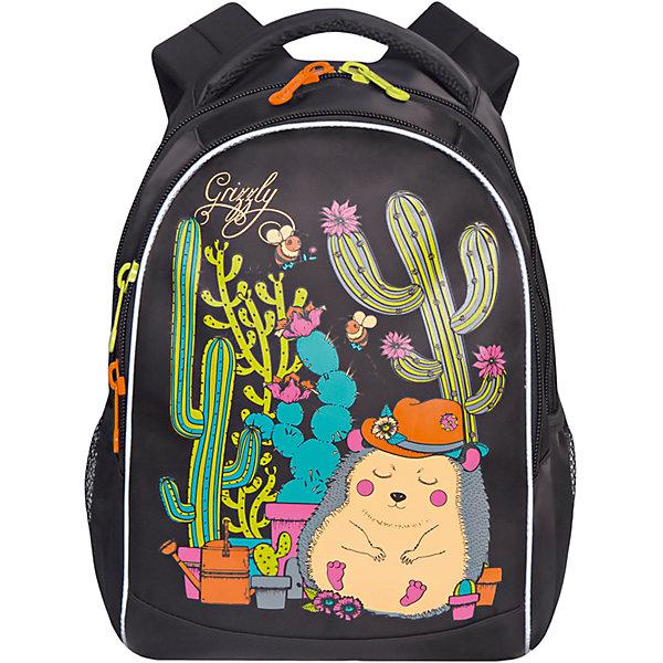 Grizzly Рюкзак школьный Grizzly, чёрный школьный рюкзак 527 mochila infantil mochilas school bags