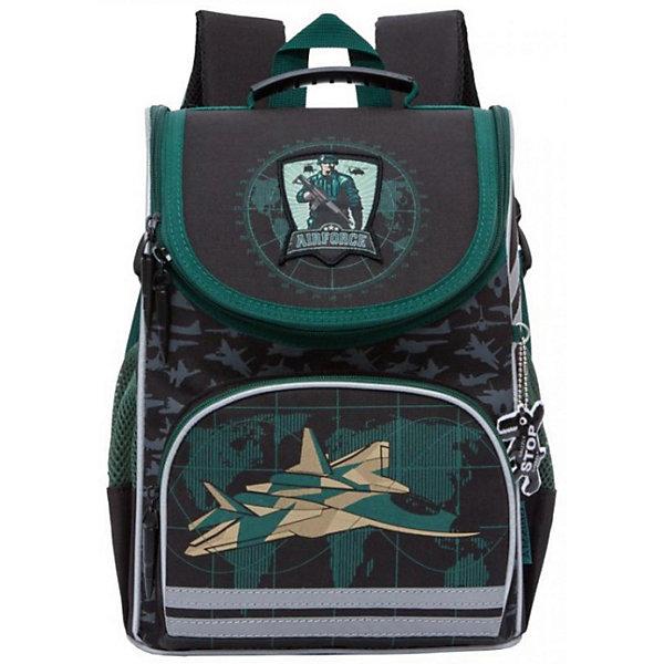 Рюкзак школьный Grizzly с мешком для обуви, чёрныйРюкзаки<br>Характеристики:<br><br>• школьный рюкзак-ранец;<br>• жесткая анатомическая спинка;<br>• регулируемые эластичные лямки;<br>• дополнительная ручка для переноски рюкзака в руках;<br>• замок: молния;<br>• откидное жесткое дно;<br>• вмещает формат А4;<br>• светоотражающие элементы;<br>• в комплекте: мешок для обуви;<br>• материал: полиэстер;<br>• размер рюкзака: 25х33х13 см;<br>• вес: 680 гр.<br><br>Школьный рюкзак Grizzly имеет одно отделение с двумя перегородками, объемный карман на молнии на передней стенке, боковые карманы из сетки, разделительную перегородку-органайзер, брелок-катафот, светоотражающие элементы с четырех сторон. Жесткая спинка разработана с учетом анатомии ребенка, позвоночник защищен специально сконструированной спинкой.<br><br>Grizzly Рюкзак школьный с мешком можно купить в нашем интернет-магазине.<br>Ширина мм: 250; Глубина мм: 130; Высота мм: 330; Вес г: 10; Возраст от месяцев: 72; Возраст до месяцев: 120; Пол: Мужской; Возраст: Детский; SKU: 6727496;