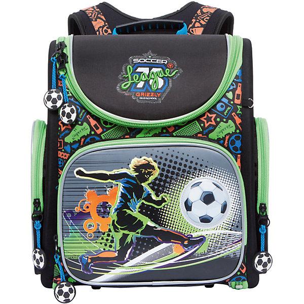 Grizzly Рюкзак школьный Grizzly 1 отделение hong hyun детей xiasuar женской моды нейлон сумка рюкзак колледж ветер рюкзак сумка г жа маленький черный нейлон рюкзак 9261