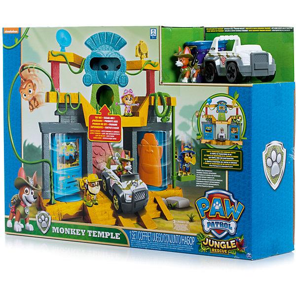 Игрушка Штаб спасателей в джунглях, Щенячий патруль, Spin MasterИгрушки<br>Характеристики товара:<br><br>• возраст от 3 лет;<br>• материал: пластик;<br>• в комплекте: фигурка щенка, обезьянка, автомобиль, подвижные стены, крутящийся камень, трапы;<br>• работает от 3 батареек LR44 (в комплект не входят);<br>• размер упаковки 58х40х13 см;<br>• страна производитель: Китай.<br><br>Игрушка «Штаб спасателей в джунглях» Щенячий патруль Spin Master создана по мотивам известного мультфильма «Щенячий патруль» про отважных щенков-спасателей. <br><br>Игрушка выполнена в виде большого храма в джунглях, обвитого лианами. Чтобы подняться на 2 этаж храма, надо пройти на специальный подъемник. На вершине храма расположился большой тотем в виде обезьяны. Нажав на банан, тотем начнет издавать звуки, а глаза засверкают. <br><br>Храм может превращаться в командный центр щенков-спасателей. Достаточно лишь повернуть переключатель, и храм превратиться в центр с изображениями и табличками любимых персонажей. В комплекте фигурка Трекера с рюкзачком на спине и его машина, на которой он отправляется на важные задания.<br><br>Игрушку «Штаб спасателей в джунглях» Щенячий патруль Spin Master можно приобрести в нашем интернет-магазине.<br>Ширина мм: 599; Глубина мм: 429; Высота мм: 149; Вес г: 2485; Возраст от месяцев: 36; Возраст до месяцев: 60; Пол: Унисекс; Возраст: Детский; SKU: 6728778;