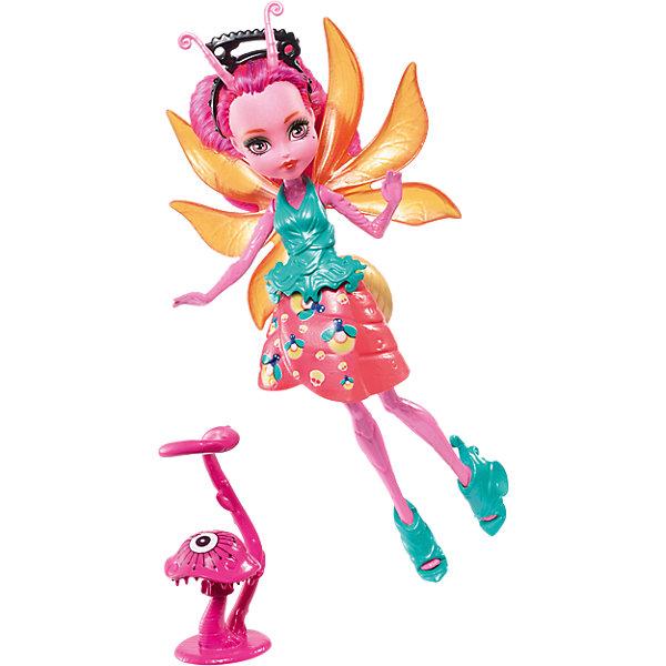 Мини-кукла Monster High «Цветочные Монстрики» Светлячок Люмина с питомцем, 13 смБренды кукол<br>Характеристики:<br><br>• возраст: от 6 лет;<br>• материал: пластик, текстиль;<br>• высота куклы: 13 см;<br>• герои: Люмина Светлячок;<br>• комплектация: кукла, растение-друг;<br>• особенности: подвижные руки, ноги, голова, мягкие волосы;<br>• вес в упаковке: 76 гр.;<br>• размеры упаковки: 18х11,6х5 см;<br>• страна бренда: США.<br><br>Мини-кукла Monster High (Монстер Хайн) Люмина Светлячок одета в яркий костюм, носит украшения на голове, у нее есть крылья и друг-растение, которое закрепляется на талии. <br><br>Кукла обладает множеством подвижных элементов и точек артикуляции, что позволит придавать ей разнообразные позы, а с волосами можно легко экспериментировать, создавая прически, развивая тем самым воображение и фантазию.<br><br>Мини-куклу Monster High «Цветочные Монстрики» Светлячок Люмина с питомцем, 13 см можно приобрести в нашем интернет-магазине.<br>Ширина мм: 180; Глубина мм: 116; Высота мм: 50; Вес г: 76; Возраст от месяцев: 72; Возраст до месяцев: 120; Пол: Женский; Возраст: Детский; SKU: 6739692;