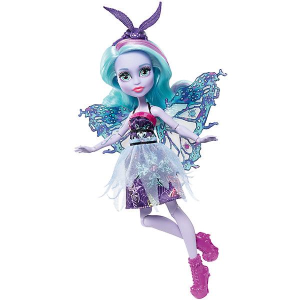 Кукла Monster High Цветочная монстряшка ТвилаКуклы модели<br>Характеристики товара:<br><br>• возраст: от 6 лет<br>• материал: пластик;<br>• упаковка: коробка;<br>• высота куклы: 28-30 см<br>• страна бренда: США<br><br>Крылатые куклы Monster High™ «Цветочные монстряшки»™ помогают воображению набрать высоту! Роскошные крылья, уникальный наряд, подчеркивающий неповторимый стиль Твилы.<br><br>У каждой куклы серии Цветочная монстряшка есть улетные аксессуары: обувь с тематическими деталями, очки или ободок. Обрати внимание на уши, хвосты, цветные пряди в волосах и монстрический окрас. <br><br>Куклу Monster High Цветочная монстряшка Твила можно купить в нашем интернет-магазине.<br>Ширина мм: 329; Глубина мм: 155; Высота мм: 68; Вес г: 181; Возраст от месяцев: 72; Возраст до месяцев: 120; Пол: Женский; Возраст: Детский; SKU: 6739693;