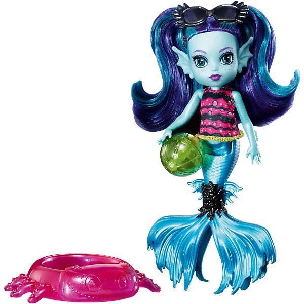 Мини-кукла Monster High «Семья Монстриков» Эбби Блю, 14 смКуклы<br>Характеристики:<br><br>• возраст: от 6 лет;<br>• материал: пластик, текстиль;<br>• высота куклы: 14 см;<br>• герои: Эбби Блю;<br>• особенности: подвижные руки, хвост, мягкие волосы;<br>• комплектация: кукла, аксессуары;<br>• вес в упаковке: 110 гр.;<br>• размеры упаковки: 20,7х15,4х4 см;<br>• страна бренда: США.<br><br>Мини-монстряшка Monster High (Монстр Хай) Эбби Блю из серии «Семья Монстриков» одета в оригинальный наряд. В комплект входят тематические аксессуары, а небольшие размеры куклы позволят всюду брать ее с собой.<br><br>Мини-куклу Monster High (Монстр Хай) «Семья Монстриков» Эбби Блю, 14 см можно приобрести в нашем интернет-магазине.<br>Ширина мм: 207; Глубина мм: 154; Высота мм: 40; Вес г: 110; Возраст от месяцев: 72; Возраст до месяцев: 120; Пол: Женский; Возраст: Детский; SKU: 6746583;