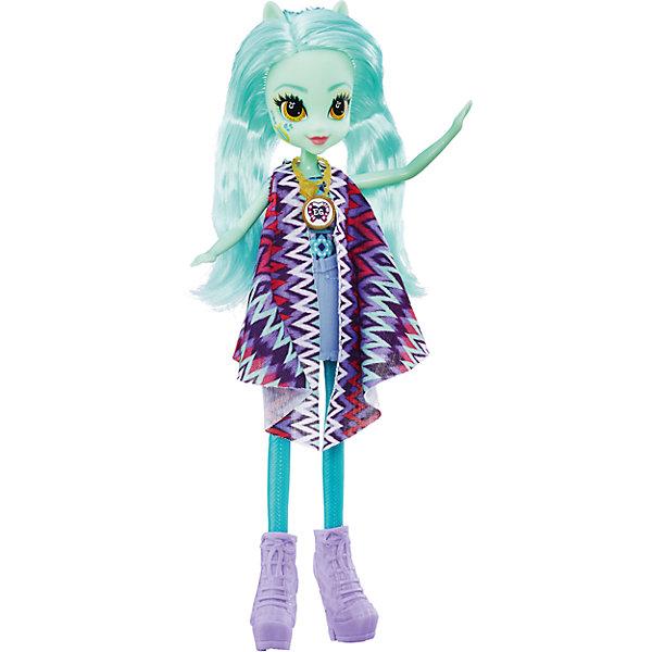Кукла Эквестрия Герлз Легенды вечнозеленого леса - Лира ХартстрингсЭквестрия герлз<br>Характеристики:<br><br>• возраст: от 5 лет;<br>• материал: пластик;<br>• в комплекте: кукла, наряд, ожерелье;<br>• высота куклы: 22 см;<br>• размер упаковки: 30,4х14х5 см;<br>• вес упаковки: 209 гр.;<br>• страна производитель: Китай.<br><br>Кукла «Легенда Вечнозеленого леса» Hasbro — героиня известного мультсериала «Мой маленький пони. Девочки из Эквестрии» Лира Хартстрингс. Она одета в разноцветную тунику и фиолетовые туфельки. У куклы выразительные глаза и длинные голубые волосы. Дополняет образ героини необычное ожерелье. На ожерелье имеется код, который поможет разблокировать увлекательную игру в приложении Equestria Girls.<br><br>Куклу «Легенда Вечнозеленого леса» Hasbro можно приобрести в нашем интернет-магазине.<br>Ширина мм: 50; Глубина мм: 140; Высота мм: 304; Вес г: 209; Возраст от месяцев: 60; Возраст до месяцев: 2147483647; Пол: Женский; Возраст: Детский; SKU: 6753142;
