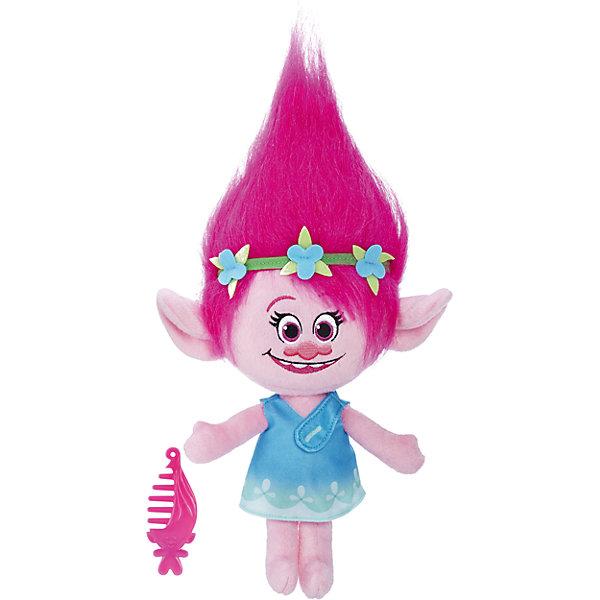 Hasbro Мягкая игрушка Тролли - Говорящая Поппи, звук, 35.5 см hasbro тролли поющая поппи b6568