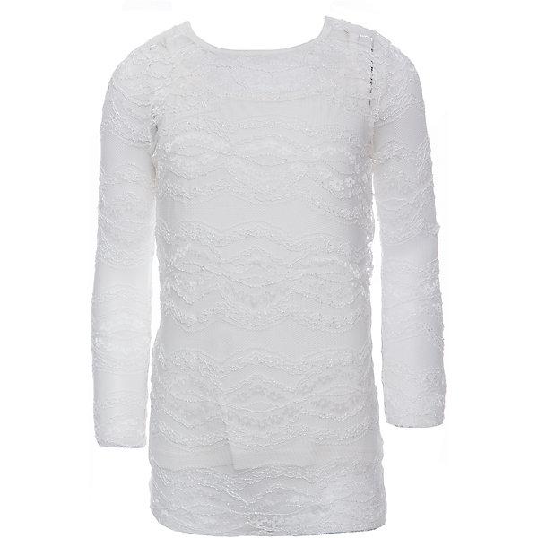 Блузка для девочки ScoolБлузки и рубашки<br>Блузка для девочки Scool<br>Трикотажная блузка.<br><br>Модель состоит из двух изделий: топа и футболки с длинными рукавами. Верхний слой выполнен из ажурного эластичного гипюра, нижний – из мягкого хлопка. Застегивается на пуговицу на спине.<br>Состав:<br>Верх: 100% полиамид, подкладка: 95% хлопок, 5% эластан<br>Ширина мм: 186; Глубина мм: 87; Высота мм: 198; Вес г: 197; Цвет: белый; Возраст от месяцев: 108; Возраст до месяцев: 120; Пол: Женский; Возраст: Детский; Размер: 134,128,122,164,158,152,146,140; SKU: 6754333;