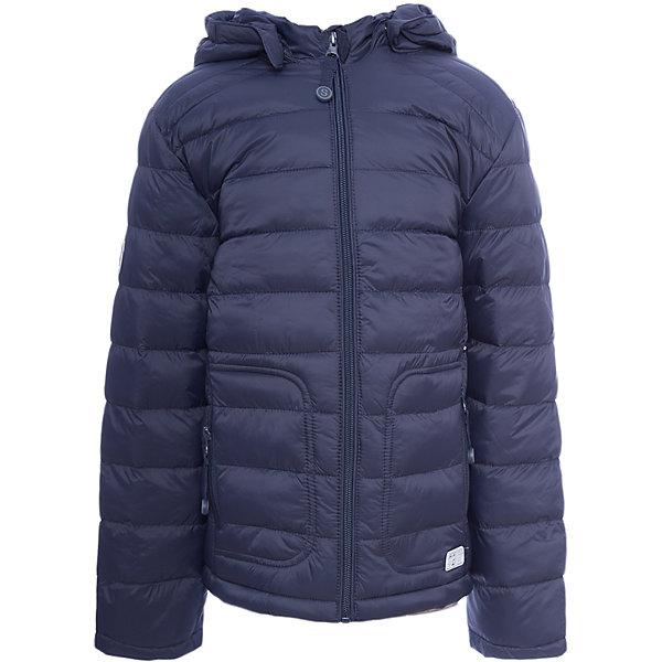Куртка для мальчика ScoolВерхняя одежда<br>Куртка для мальчика Scool<br>Практичная утепленная куртка с капюшоном из ткани со специальной водоотталкивающей пропиткой защитит ребенка в любую погоду! Капюшон закреплен на удобных застежках - кнопках, дополнительно снабжен мягкими резинками - даже в активной игре капюшон не упадет с головы ребенка. Специальный карман для фиксации бегунка на молнии не позволит застежке травмировать нежную детскую кожу.Преимущества: Ткань с водоотталкивающей пропиткойЗащита подбородка. Специальный карман для фиксации бегунка на молнии не позволит застежке травмировать нежную детскую кожуСветоотражающие элементы на рукаве и по низу изделия<br>Состав:<br>Верх: 100% нейлон, подкладка: 100% полиэстер, наполнитель: 100% полиэстер, 100 г/м2<br>Ширина мм: 356; Глубина мм: 10; Высота мм: 245; Вес г: 519; Цвет: темно-синий; Возраст от месяцев: 84; Возраст до месяцев: 96; Пол: Мужской; Возраст: Детский; Размер: 128,164,158,152,146,140,134; SKU: 6754364;