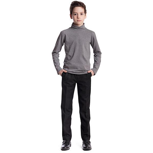 Брюки для мальчика ScoolБрюки<br>Брюки для мальчика Scool<br>Брюки в деловом стиле. Лекало этой модели брюк полностью повторяет лекало модели для взрослого мужчины. Брюки со стрелками; на внутренней стороне пояса предусмотрена регулировка по талии за счет удобной резинки на пуговицах.Преимущества: Модель со шлевками, при необходимости можно использовать ременьРегулировка по талии за счет внутренней резинки с пуговицейМодель с вшивными карманами<br>Состав:<br>65% полиэстер, 35% вискоза<br>Ширина мм: 215; Глубина мм: 88; Высота мм: 191; Вес г: 336; Цвет: черный; Возраст от месяцев: 156; Возраст до месяцев: 168; Пол: Мужской; Возраст: Детский; Размер: 164,134,158,152,146,140,128,122; SKU: 6754426;