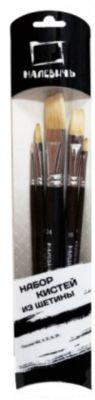 Набор кистей из щетины Малевичъ (5 кистей), артикул:6757444 - Рисование и лепка