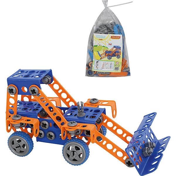 Polesie Конструктор Изобретатель - Трактор-погрузчик №1, 141 элементов, Полесье машинки tomy трактор john deere 6830 с двойными колесами и фронтальным погрузчиком