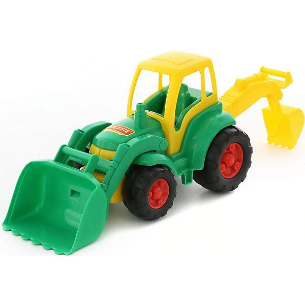 Polesie Трактор с лопатой и ковшом Чемпион, Полесье polesie конструктор полесье беби 22 детали в ведре макси с крышкой