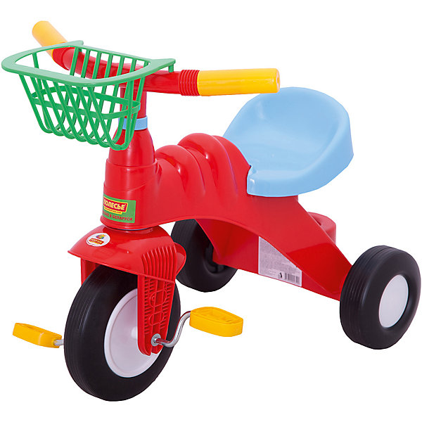 Фото - Полесье Трехколесный велосипед Полесье Малыш, красный полесье велосипед трехколесный дидактик 3 46598 цвет в ассортименте