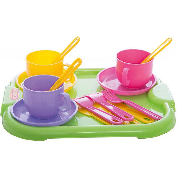 Полесье Набор детской посуды Минутка с подносом,