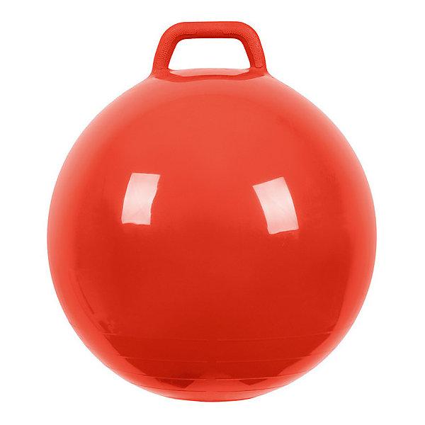 Мяч Прыгун с ручкой, 50 см, красный,