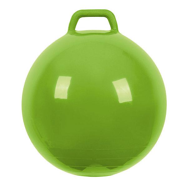 Мяч Прыгун с ручкой, 50 см, зеленый, МалышОКПрыгуны и джамперы<br>Характеристики товара:<br><br>• возраст: от 3 лет;<br>• материал: ПВХ;<br>• диаметр мяча: 50 см;<br>• размер упаковки: 25,4х15,3х12,2 см;<br>• вес упаковки: 700 гр.;<br>• страна производитель: Китай.<br><br>Мяч Прыгун с ручкой «МалышОК» зеленый — отличный тренажер для детей от 3 лет. Сидя на нем и держась за ручки, малыш тренирует координацию движений, тренирует мышцы, формирует осанку. Мяч подойдет для использования как дома, так и на улице.<br><br>Мяч Прыгун с ручкой «МалышОК» зеленый можно приобрести в нашем интернет-магазине.<br>Ширина мм: 122; Глубина мм: 153; Высота мм: 254; Вес г: 700; Возраст от месяцев: 48; Возраст до месяцев: 2147483647; Пол: Унисекс; Возраст: Детский; SKU: 6767723;