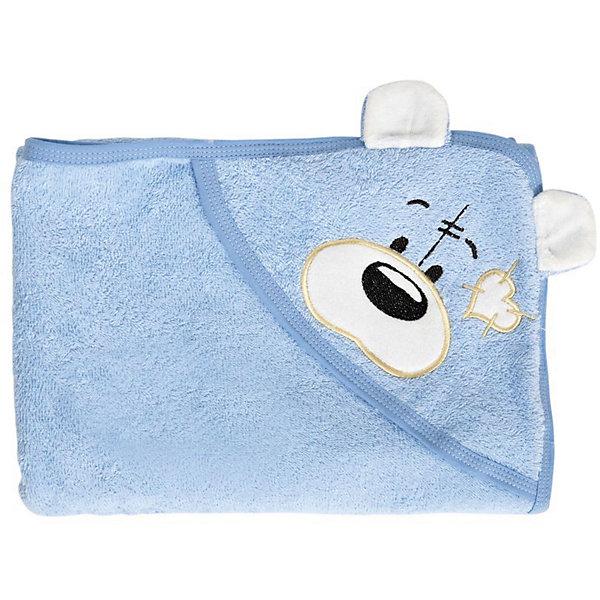Полотенце с капюшоном Мишки Fun Dry, Twinklbaby, голубой с белыми ушками
