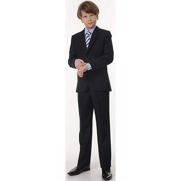 Пиджак Дэвид для мальчика SkylakeПиджаки и костюмы<br>Характеристики товара:<br><br>• цвет: синий<br>• материал: 70% полиэстер, 30% вискоза; <br>• подкладка: 47% вискоза, 53% полиэстер<br>• сезон: демисезон<br>• прилегающий силуэт<br>• однобортный<br>• воротник отложной<br>• карман<br>• на подкладке<br>• застежки: пуговицы<br>• страна бренда: Российская Федерация<br>• страна производства: Российская Федерация<br><br>Школьный пиджак для мальчика. Классический пиджак синего цвета. Однобортный  пиджак прилегающего силуэта с застежкой на 2 петли и пуговицы. Лацканы пиджака удлиненные узкие. Края  борта со скосом от второй нижней пуговицы и закруглением к линии низа.  <br><br>Полочки с  вытачками,  отрезными боковыми частями и боковыми косыми прорезными  карманами в «рамку»  с клапанами. На левой полочке  нагрудный  карман в листочку. Спинка со средним швом и  двумя шлицами.<br><br>Рукава втачные, двухшовные с тремя пуговицами внизу по линии локтевого шва. Воротник отложной,  верхний воротник со стойкой, нижний воротник из  фильца. Пиджак на подкладке  с  одним  внутренним  прорезным  карманом  «в рамку» из основной ткани на левой полочке. <br><br>Пиджак Дэвид для мальчика от бренда SKY LAKE (Скай Лэйк) можно купить в нашем интернет-магазине.<br>Ширина мм: 190; Глубина мм: 74; Высота мм: 229; Вес г: 236; Цвет: синий; Возраст от месяцев: 144; Возраст до месяцев: 156; Пол: Мужской; Возраст: Детский; Размер: 158,128,152,146,140,134; SKU: 6772634;