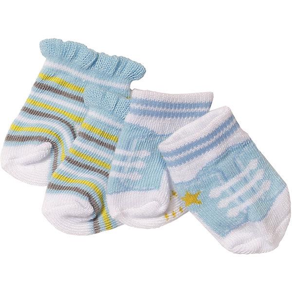 Zapf Creation Носочки BABY born, 2 пары, голубые игрушка baby annabell носочки 2 пары блистер zapf creation 92285