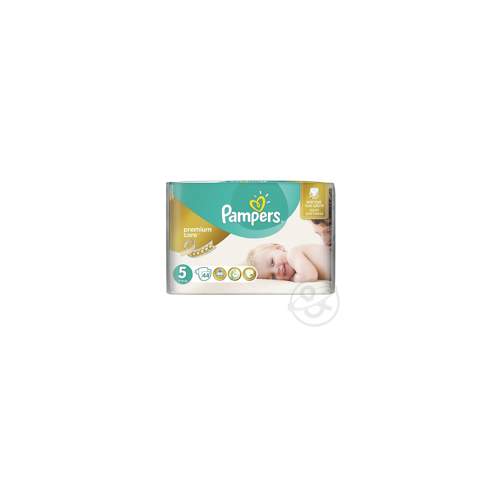 Подгузники Pampers Premium Care, 11-18 кг, 5 размер, 44 шт., Pampers