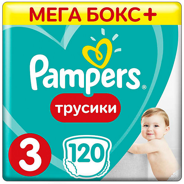 Трусики Pampers Pants, 6-11кг, размер 3, 120 шт., PampersТрусики-подгузники<br>Характеристики:<br><br>• Вид подгузника: трусики<br>• Пол: универсальный<br>• Тип подгузника: одноразовый<br>• Коллекция: Active Baby<br>• Предназначение: для ночного сна <br>• Размер: 3<br>• Вес ребенка: от 6 до 11 кг<br>• Количество в упаковке: 120 шт.<br>• Упаковка: картонная коробка<br>• Размер упаковки: 41*28,7*30,8 см<br>• Вес в упаковке: 3 кг 197 г<br>• Наружные боковые швы<br>• До 12 часов сухости<br>• Эластичные резинки <br>• Дышащие материалы<br>• Повышенные впитывающие свойства<br><br>Трусики Pampers Pants, 6-11 кг, размер 3, 120 шт., Pampers – это новейшая линейка детских подгузников от Pampers, которая сочетает в себе высокое качество и безопасность материалов, удобство использования и комфорт для нежной кожи малыша. Подгузники выполнены в виде трусиков и предназначены для детей весом до 11 кг. Инновационные технологии и современные материалы обеспечивают этим подгузникам Дышащие свойства, что особенно важно для кожи малыша. Повышенные впитывающие качества изделию обеспечивают специальные микрогранулы, сохраняя верхний слой сухим до 12 часов, именно поэтому эту линейку трусиков производитель рекомендует использовать для ночного сна. <br><br>У трусиков предусмотрена эластичная мягкая резиночка на спинке и манжеты на ножках, что защищает от протекания. Боковые наружные швы не натирают нежную кожу малыша, легко разрываются при смене трусиков. Сзади имеется клейкая лента, которая позволяет зафиксировать свернутые после использования трусики. Трусики подходит как для мальчиков, так и для девочек. <br><br>Трусики Pampers Pants, 6-11 кг, размер 3, 120 шт., Pampers можно купить в нашем интернет-магазине.<br>Ширина мм: 451; Глубина мм: 289; Высота мм: 286; Вес г: 3328; Возраст от месяцев: 6; Возраст до месяцев: 12; Пол: Унисекс; Возраст: Детский; SKU: 6837468;